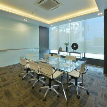 luxury meeting room with commercial carpet
