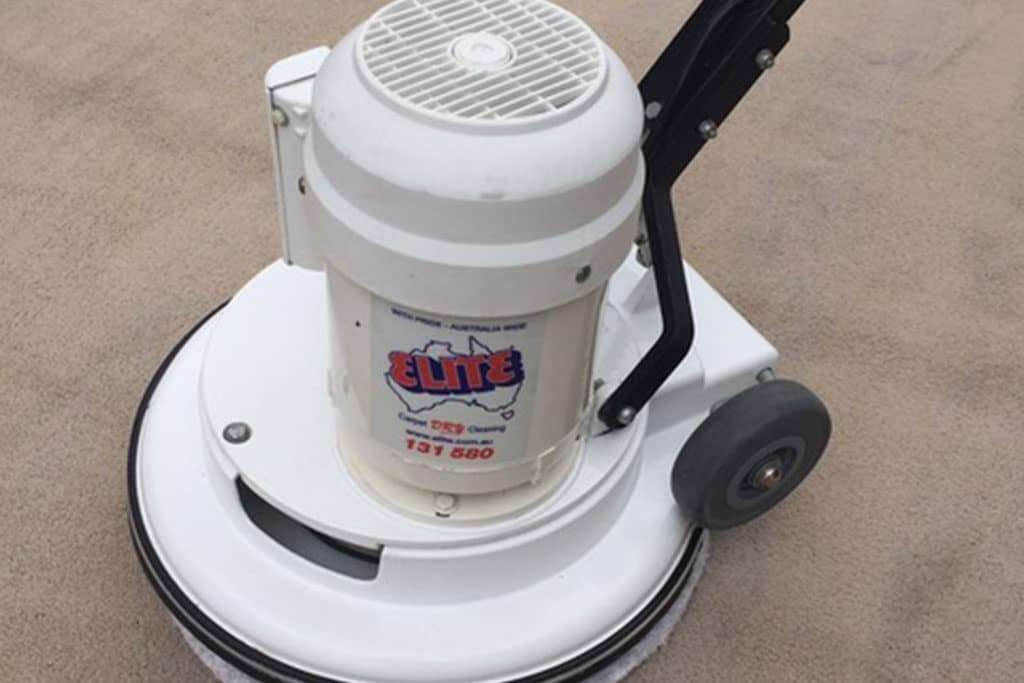 elite carpet machine ready to clean