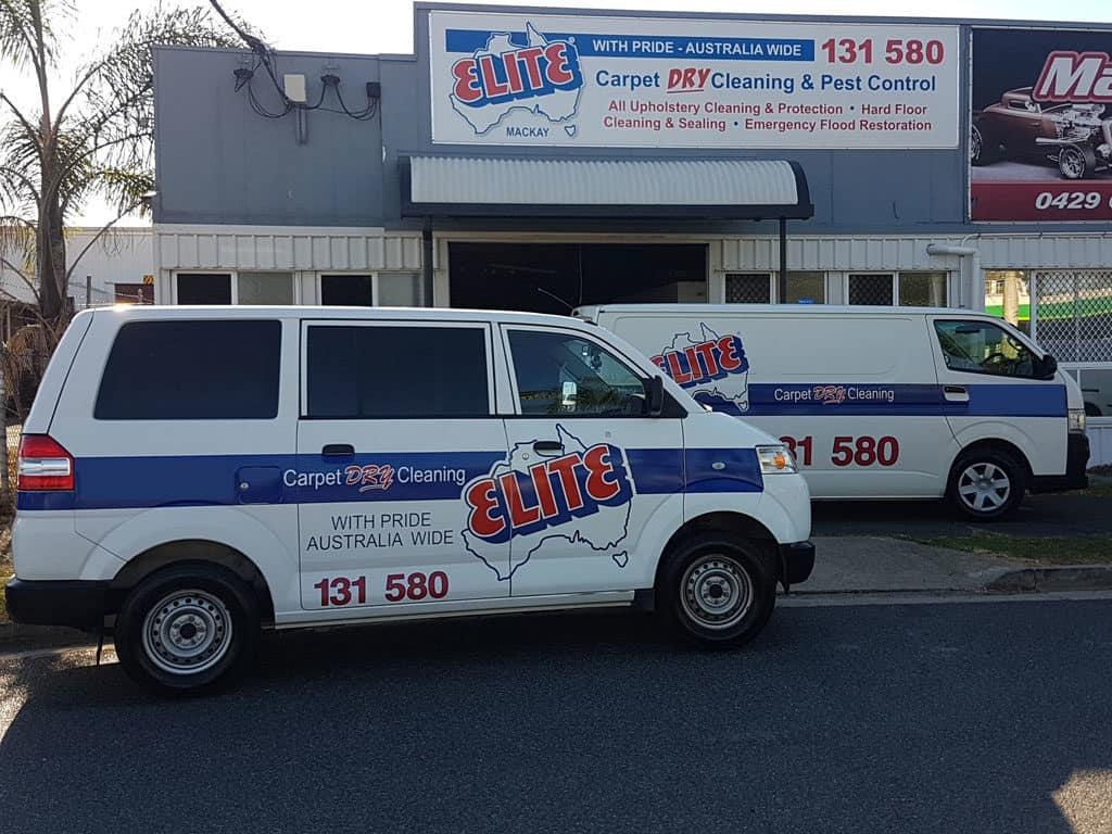 elite carpet dry cleaning van