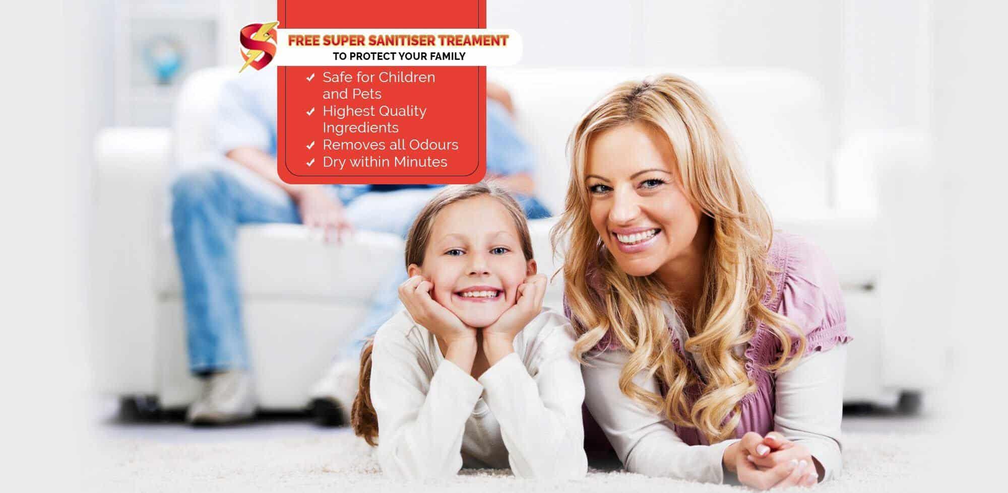 free super sanitiser treatment